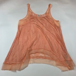 Free People Orange Lace Cami